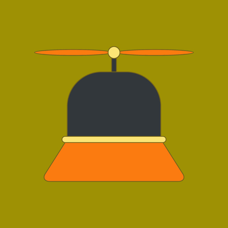 flat icon on background Kids toy helicopter Illustration