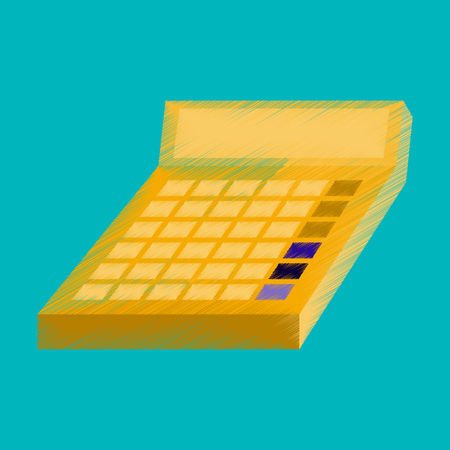 flat shading style icon economy calculator