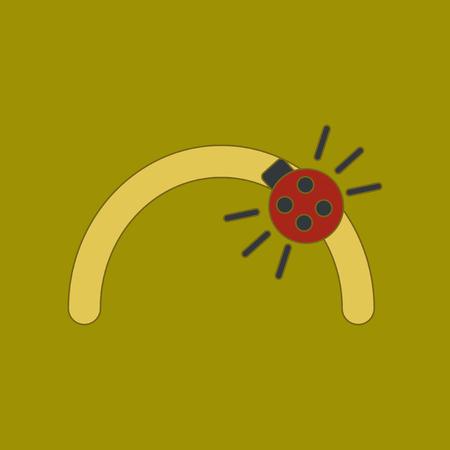 flat icon on background Kids toy ladybug