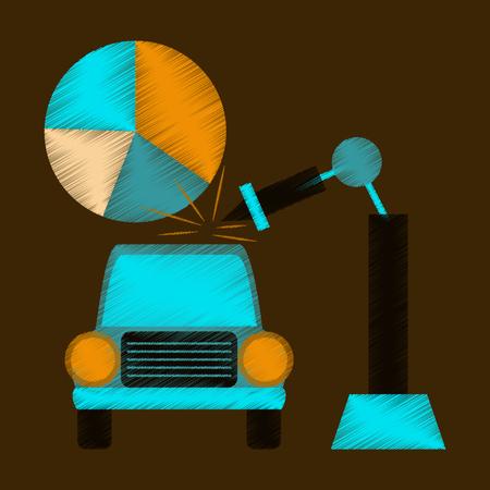 flat shading style icon Automotive industry