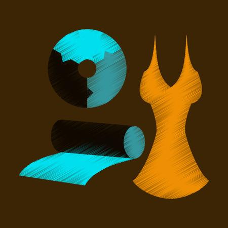 flat shading style icon Fabric diagram