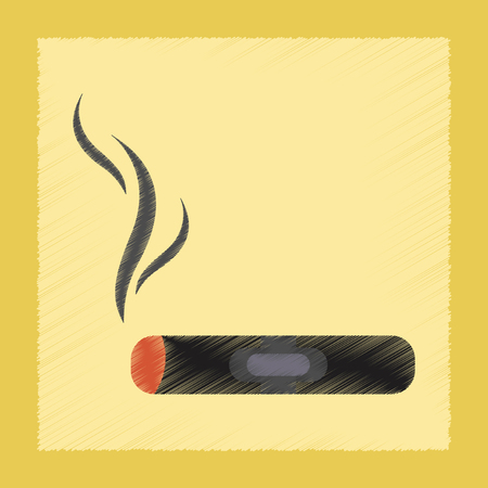 flat shading style icon cuba cigar Illustration