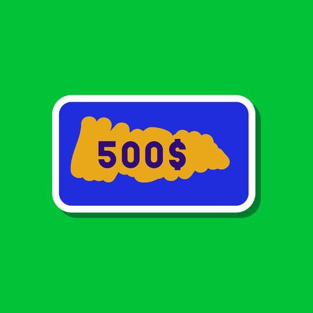 세련 된 배경에 종이 스티커 스크래치 카드 스톡 콘텐츠 - 84359335