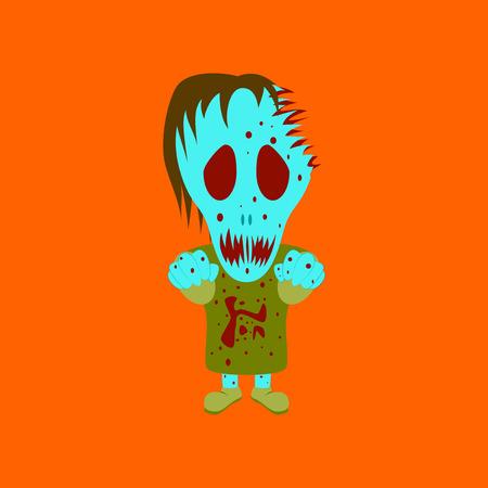 flat illustration on background of halloween monster Illustration