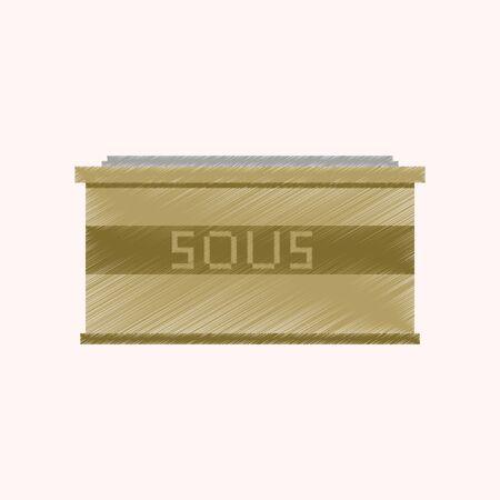 Ombrage plat style icône de la sauce de pixel Banque d'images - 84941229