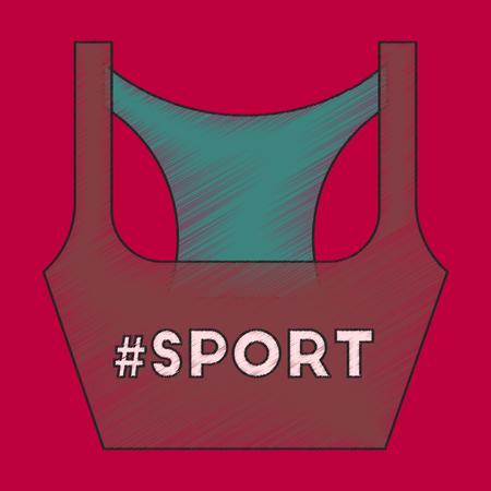 activewear: flat shading style icon Sports top Illustration