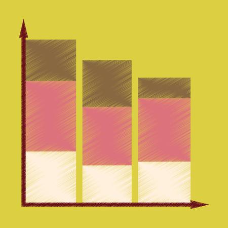 フラット シェーディング スタイル アイコン経済グラフ
