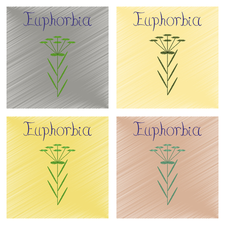 assembly flat shading style icon herb Linaria