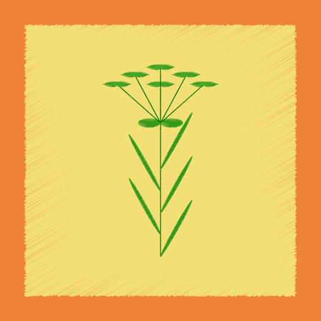 flat shading style icon herb Linaria