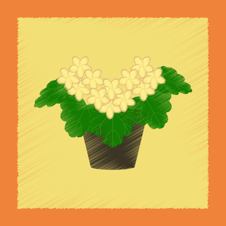 flat shading style Illustrations plant Pelargonium