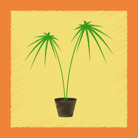 Flat shading style Illustrations plant Cyperus