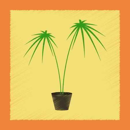Style d'ombrage plat Illustrations plante Cyperus Banque d'images - 85493707