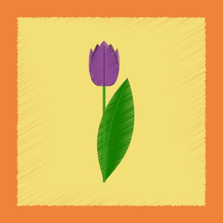 Flat shading style illustrations plant Tulipa