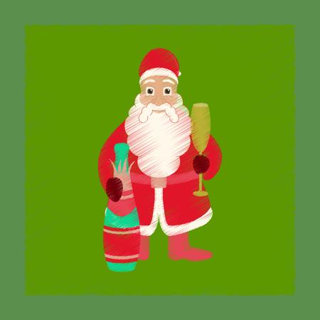 サンタクロースのフラットシェーディングスタイルアイコン
