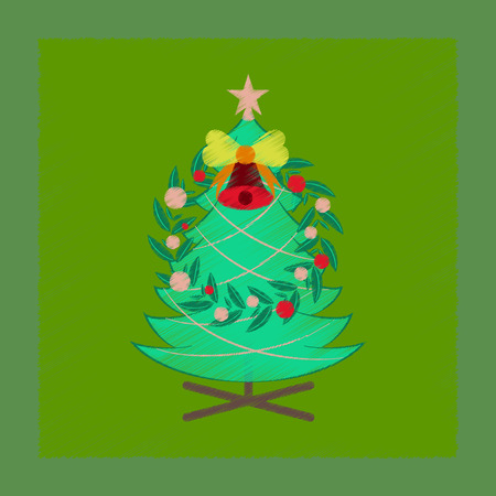 flat shading style icon of Christmas fir wreath