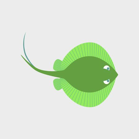 Vector illustration in flat style of a ramp fish