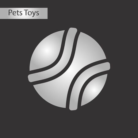black and white style icon dog toy ball