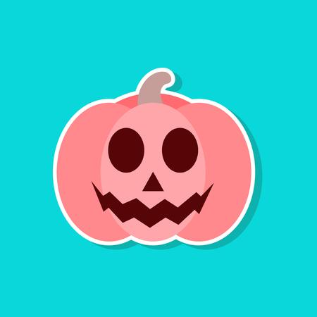 Paper sticker of a halloween pumpkin Иллюстрация