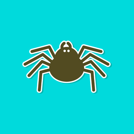 Paper sticker of a halloween spider
