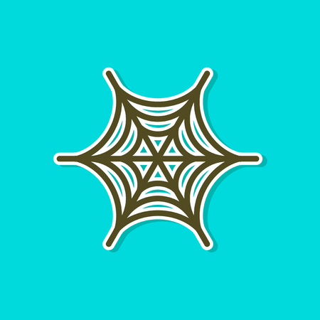 Paper sticker of a spider web Illustration