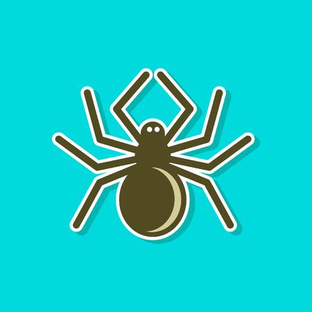Paper sticker of a halloween spider