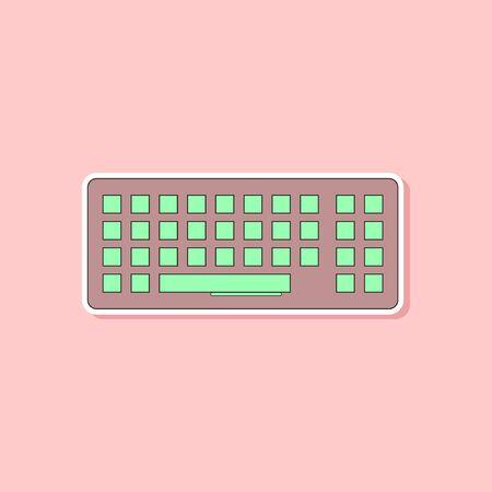 Sticker en papier d'un clavier d'ordinateur Banque d'images - 85781136