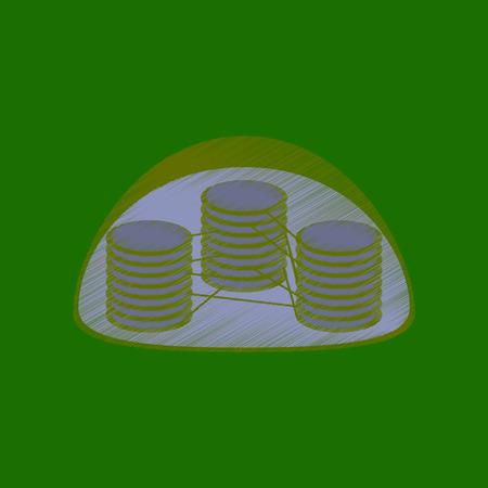 estilo de sombreado plano icono del cloroplasto