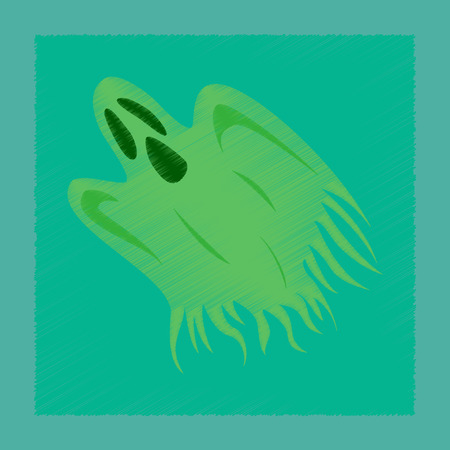 flat shading style icon ghost Illustration