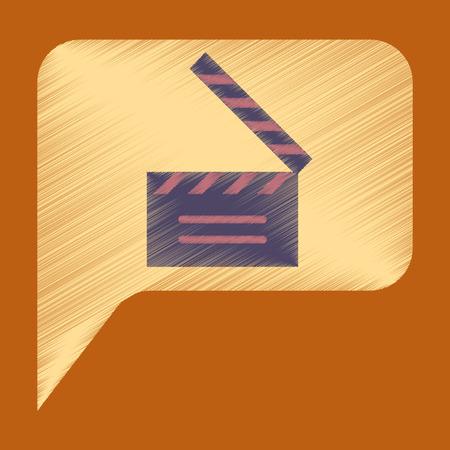 Flat Icon in Shading Style film slapstick Иллюстрация