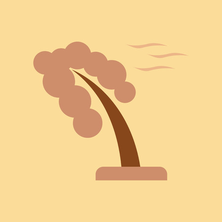 Flat icon on nature strong wind tree Illustration