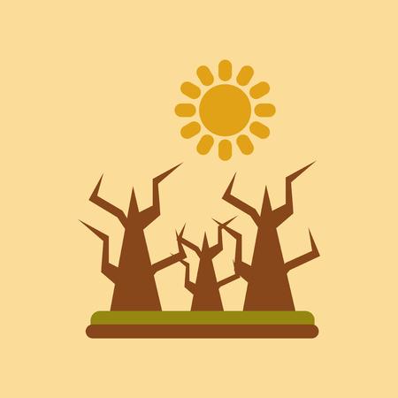 flat icon on stylish background drought disaster Illustration