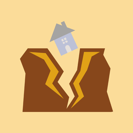 residence: Earthquake illustration.