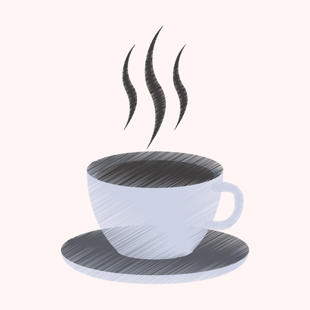 flat shading style icon cup of coffee