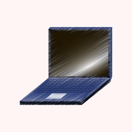 laptop screen: Flat shading style icon laptop
