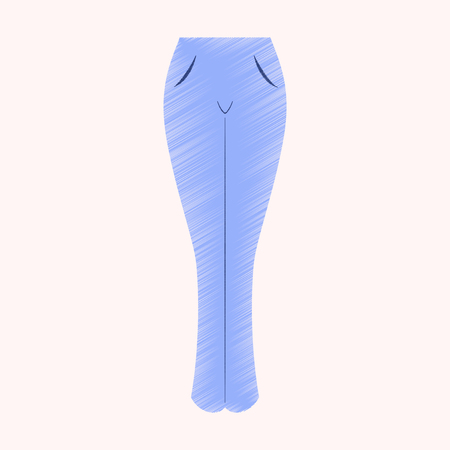 flat shading style icon clothes women jeans