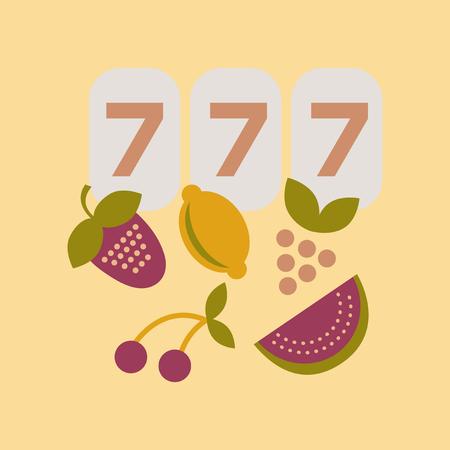 flat icon on stylish background jackpot Lucky seven