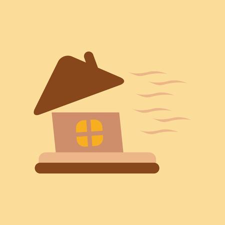 flat icon on stylish background storm the house