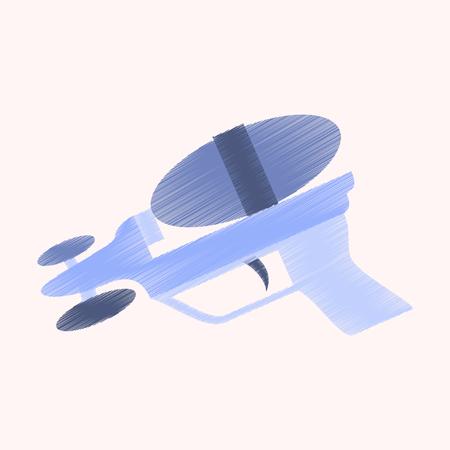 flat shading style icon Speelgoedgeweer Stockfoto