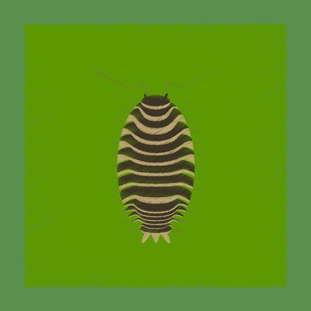 flat shading style illustration of wood louse Stock Photo