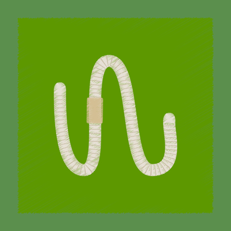 lombriz de tierra: sombreado plano estilo ilustración gusano