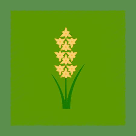 Flache Schattierung Stil Illustration Gladiolus Standard-Bild - 87862256