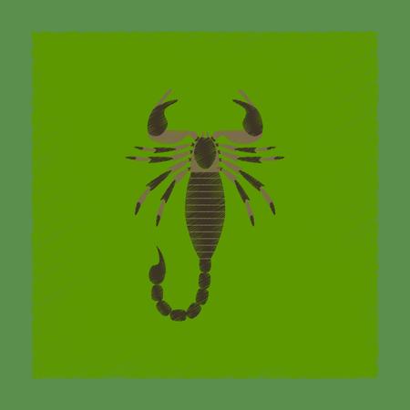 Vlakke schaduwstijl illustratie dier Schorpioen