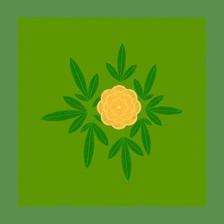 flat shading style illustration flower paeonia Illustration