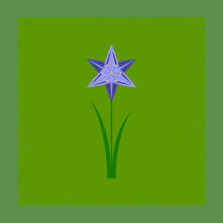 flat shading style illustration flower narcissus