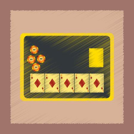 Tablero de iconos de chip de tarjeta en la ilustración de estilo de sombreado plano. Foto de archivo - 88137385
