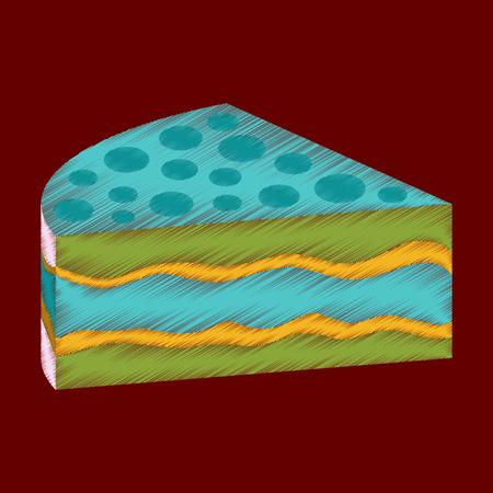 flat shading style icon design cake