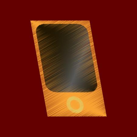 flat shading style icon music player Illustration