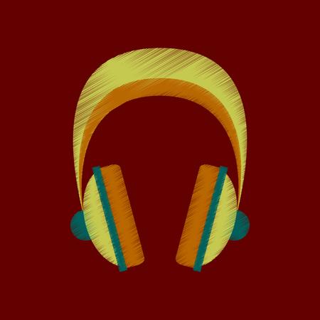 flat shading style icon headphones stereo