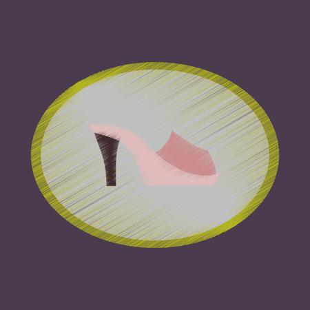 flat shading style icon footwear Flip flops heels Illustration