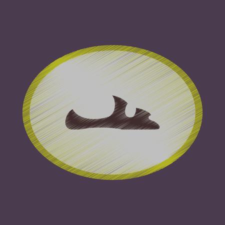 flat shading style icon footwear flip flops